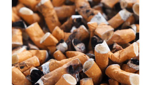 An image with hundreds of cigarette butts